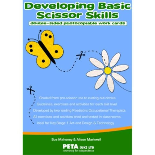 American Educational Products P-114 Developing Basic Scissor Skills Work Cards