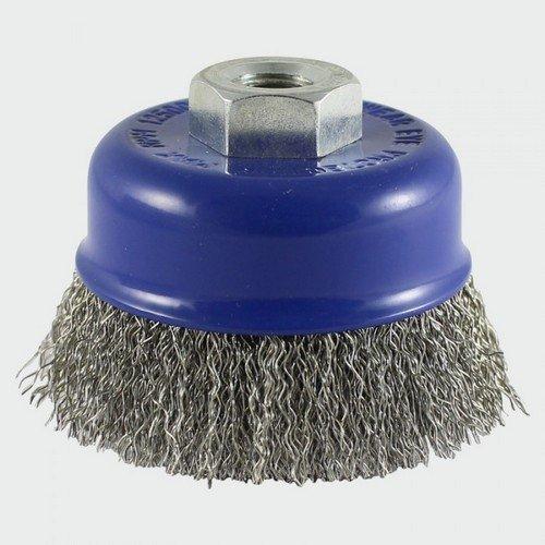 Addax 75TCCSS Threaded Cup Brush Crimp S/S 75mm