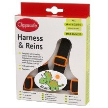 Clippasafe Designer Dinosaur Harness & Reins