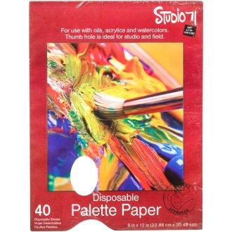 "Studio 71 Palette Pad W/Hole 9""X12""-40 Sheets"