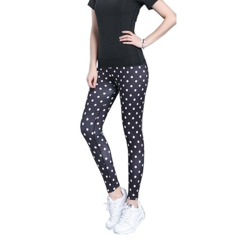 Stylish Printing Design Quick-dry Pants Running Fitness Trousers Yoga Pants, #10