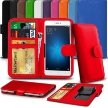 """iTronixs - Alcatel Pixi 3 (4.5) 3G (4.5"""") High Quality Clamp Style PU Leather Wallet Case Cover"""