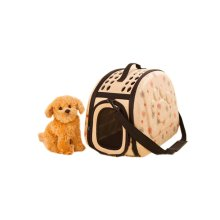 Portable Folding Pet Carrier Shoulder Bag for Dogs and Cats (42*26*32cm, YELLOW)