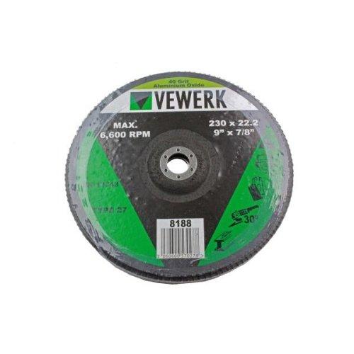 VEWERK 230 X 22.2MM Flap Discs 40 Grit Oxide - Pack Of 2 8188
