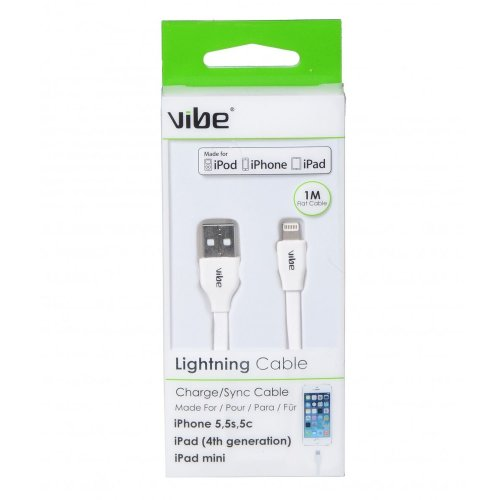 Vibe 30060 White Data Sync/Charge Lightning Cable
