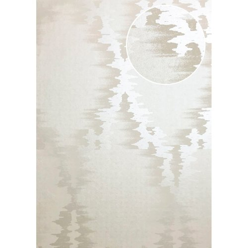 ATLAS XPL-589-2 Graphic wallpaper shimmering cream ivory 5.33 sqm