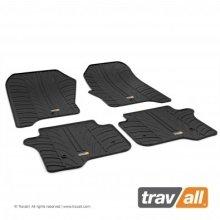 Travall Rubber Car Floor Mats [rhd] - Volvo V40 (2012-) (4pcs+fix)