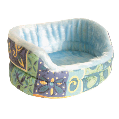 Pennine Fur-Lined Drop Front Pet Bed With Removable Cushion