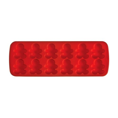 12 Gingerbread Man Cake Mould Tray - Red
