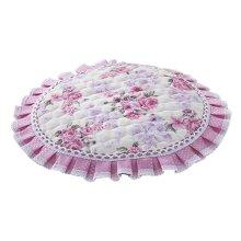 European Style Stools Pad Stool Mat Beautiful Round Stool Cushion Purple