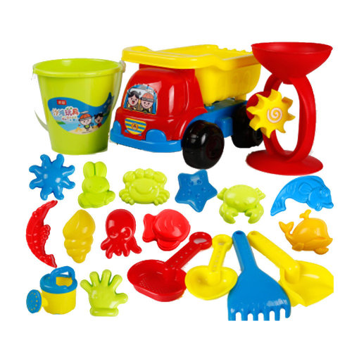 20 Piece Beach sand Toy Set, Bucket, Shovels, Rakes,Perfect for Holding Childrens' Toys#A