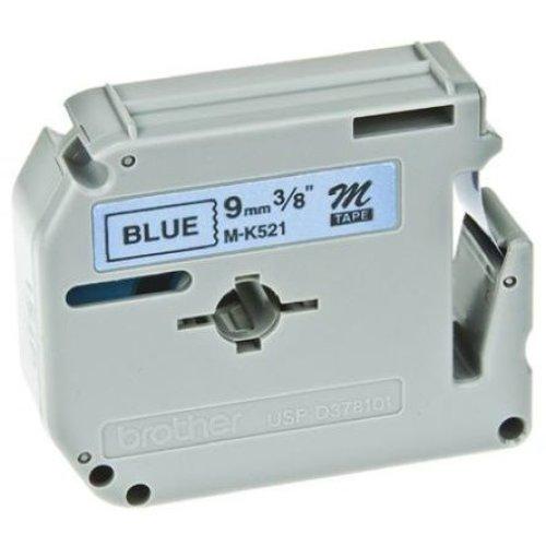 Brother M-K521BZ Black on blue M label-making tape
