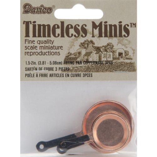 Miniature - Copper Frying Pans - 7/8 - 1-1/4 inches - 3/Pkg