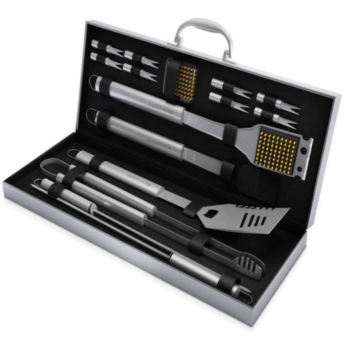 Home-Complete HC-1000 BBQ Grill Tool Set- 16 Piece