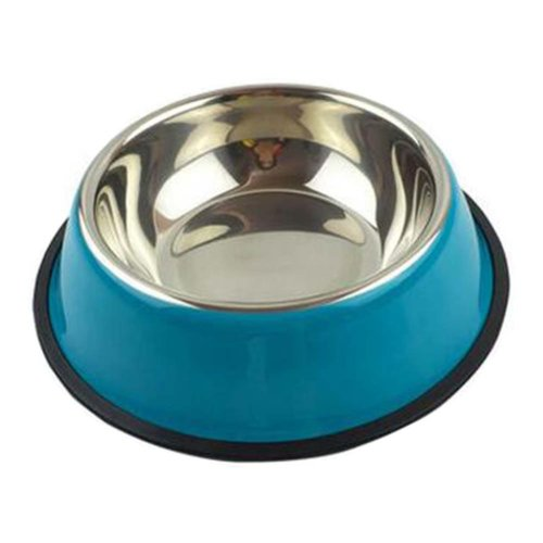 Little Stainless Steel Bowl Set Feeding Pot/Pet Bowl/Dog Bowl/Cat Bowl For Food & Water M Size (Blue)