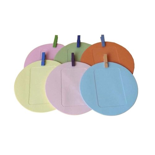 Modern Concise Style Cardboard Photo Frames Round Shape