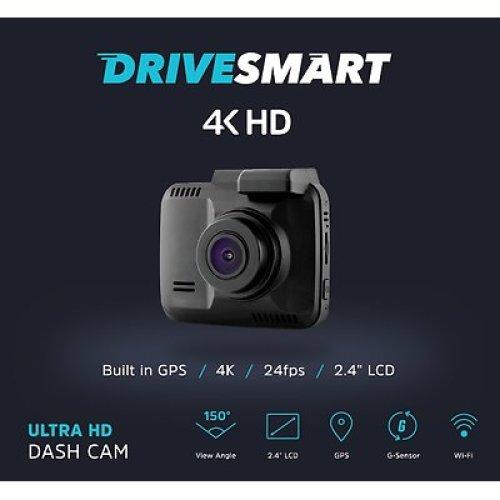 DriveSmart 4K Ultra HD Dash Cam DVR, In-Car Camera High Resolution