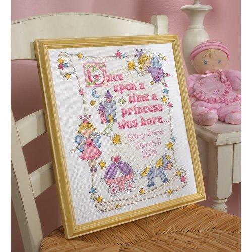 "Bucilla Counted Cross Stitch Kit 10""X13""-Princess Birth Record (14 Count)"