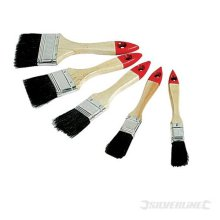 5 Piece Silverline Disposable Brush Set -  disposable brush silverline set paint 5pce 244979 brushes 50