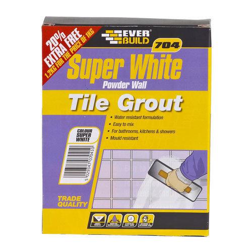 Everbuild 704 Powder Wall Tile Grout 1kg