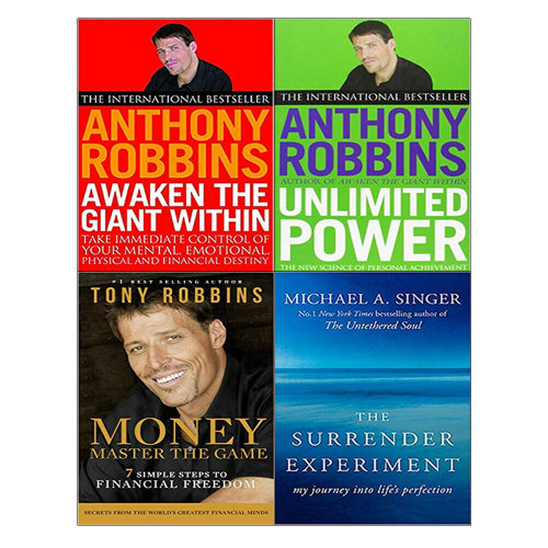 Unlimited Power,Money Master the Game,Surrender Experiment 4 Books Set