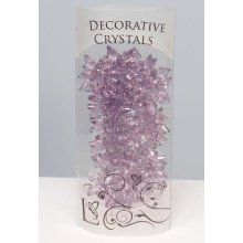 Decorative Acrylic Snow Flakes Crystals - 4.5cm, Plum