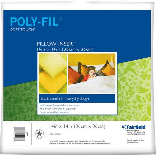 "Fairfield Soft Touch Down-Like Pillowform-14""X14"" 100% Polyester FOB: MI"