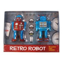 Retro Robots RE-USABLE Retro Hand Warmers (Pack Of 2)