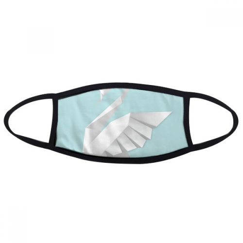 White Swan Abstract Butterfly Pattern Mouth Face Anti-dust Mask Anti Cold Warm Washable Cotton Gift