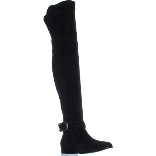 Gucci 432083 Square Toe Over The Knee Boots, Nero/Nero, 7 UK