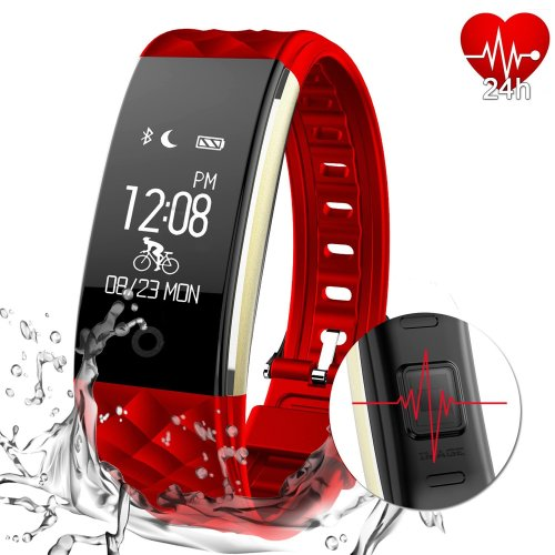 MYPIN Fitness Tracker Activity Heart Rate Monitor IP67 Waterproof Swimming Smart Wristband with Pedometer Sleep Monitor Step Calorie Call/SMS...