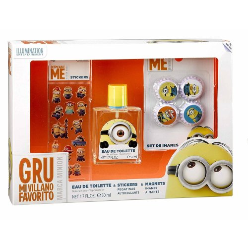 Universal Minions Gift Set contains EDT 50 ml with Magnets & 3D Stickers