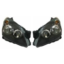 Vauxhall Astra H Mk5 Estate 2004-6/2007 Black Headlights Lamps 1 Pair O/S & N/S
