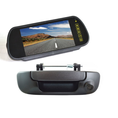 Vardsafe Tailgate Reverse Backup Camera + 7 Inch Clip-on Rear View Monitor for Dodge Ram 1500 2500 3500 (2002-2008)