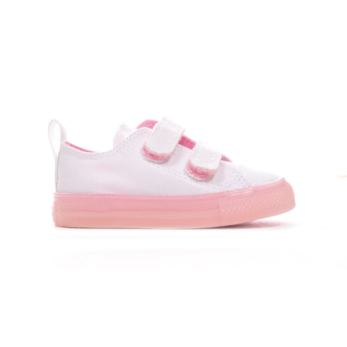 Converse Chuck Taylor All Star 2V Seasonal Ox Infant Girls Trainer White/Pink