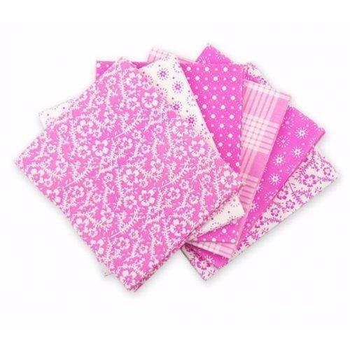 Fat Quarter Bundle - 100% Cotton - Oxford Pink - Pack of 6
