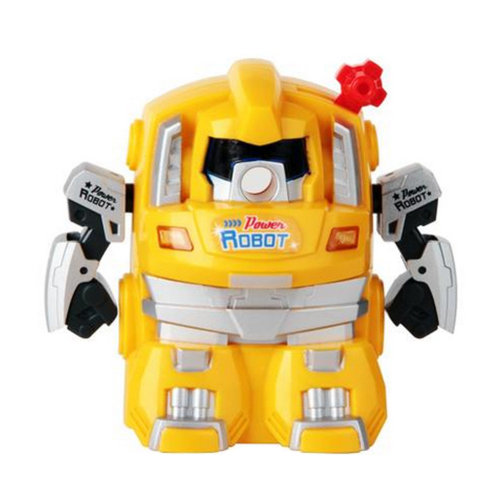 Cute Robot Manual Pencil Sharpener for Office and Classroom ( Yellow )