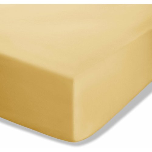 Catherine Lansfield Easy Iron Percale Double Fitted Sheet Ochre