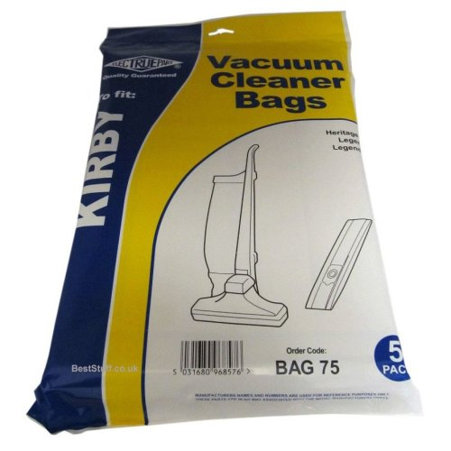 Electruepart BAG 75 pack of 5 Bags to fit Kirby Vacuum Cleaners