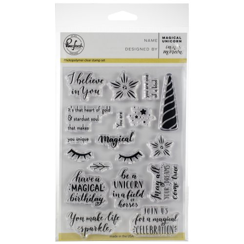 "Pinkfresh Studio Clear Stamp Set 4""X6""-Magical Unicorn"