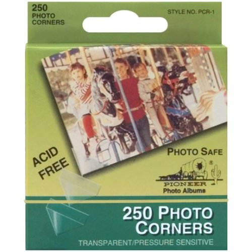 "Photo Corners Self-Adhesive .5"" 250/Pkg-Clear"