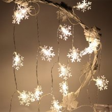 1M 10LED Snowflake Christmas LED String Lights