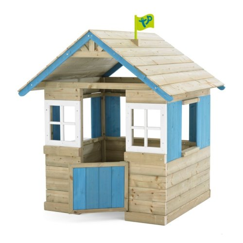 TP Toys Bramble Cottage Wooden Scandinavian-Style Playhouse With Windows and Half-height Stable Door Ages 18 Months-6 Years