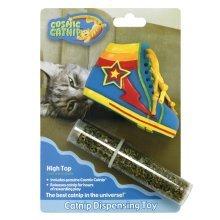 Cosmic Catnip Dispensing Boot Cat Toy -  catnip cosmic toy kitten dispensing boots easy refill 100 high top trainer refillable premium american