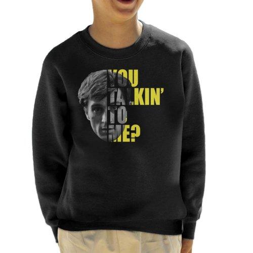 Taxi Driver Half Head Text Kid's Sweatshirt