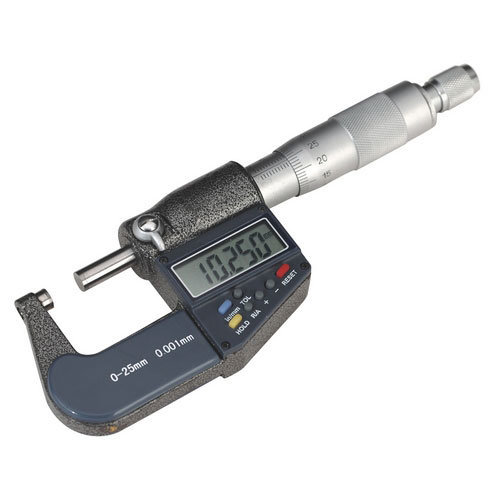 "Sealey AK9635D Digital External Micrometer 0-25mm/0-1"""