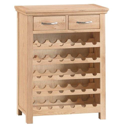 New Sherwood Oak Wine Cabinet