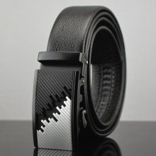 Mens Business Automatic Buckle Cowhide Leather Belt Casual High Luxury Alloy Buckle Jeans Waistband