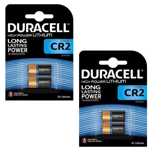 Duracell CR2 Ultra Lithium Photo Batteries DLCR2 ELCR2 CR15H270 3V Battery 4 Pack