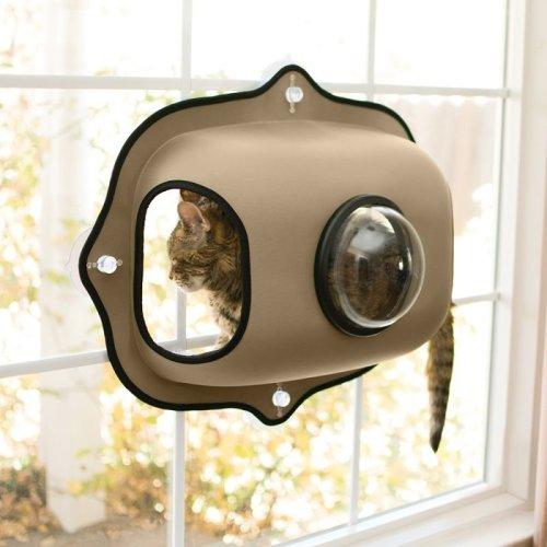 Cat Window Bed Pod Platform Cushion Suction